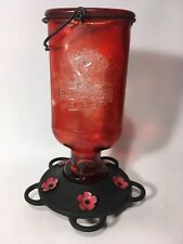Vintage CB & Sons Red Outdoor Hummingbird Nectar Feeder 16 oz. 5 ports