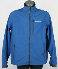 Eddie Bauer Blue Soft Shell Fleece Lined Outdoors Jacket Mens XL mountain hike