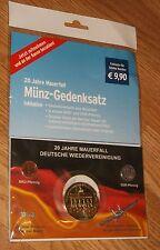 20 JAHRE MAUERFALL MUNZ-GEDENKSATZ 1989-2009 TCHIBO COMMEMORATIVE SET-NIP