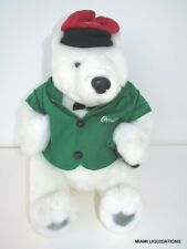 Coca Cola Artic Polar Bear Plush Green Vest Cavanaugh Group Authorized 12""