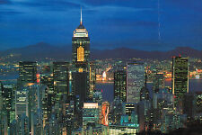 Hong Kong,China,HK at Night from Peak,Hong Kong Stamp,1995