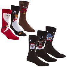 Pack Of 6 Men's Christmas Socks, Novelty Xmas Stocking Filler Gift, 6-11, B49