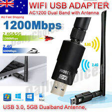 802.11AC 5dBi Antenna AC1200 High Power USB AC Wireless WiFi Adapter Long Range