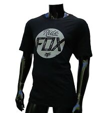 Fox Racing Motocross Circle Black Regular Fit mens T shirt size Large FOX-107
