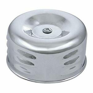 4-in Round Louvered Chrome Air Cleaner For 2-5/16-in Single Barrel Carburetors