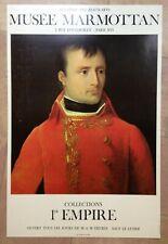 NAPOLEON COLLECTION 1ER EMPIRE AFFICHE ORIGINALE MUSEE MARMOTTAN PARIS