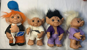 "Vintage 1982 Dam Troll Doll  #243 Made In Denmark 10"" Posable Clothed Lot"