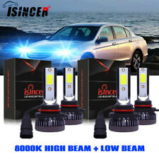 9005 9006 LED Headlight Kit Bulbs 8000K for Honda Accord 1990-2012 Civic 2004-15