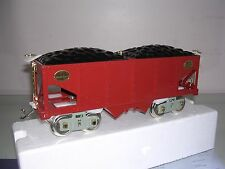 MTH Tinplate Traditions Road No. 226 Std. Gauge Hopper Car<+>Red W/Brass Trim<+>