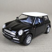 2001 Mini Cooper Die-Cast Collectible Model Car 1:28 Scale Black Opening Doors