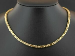 """(SO4) 9ct Yellow Gold Wheat Chain 17"""" Necklace 2.8mm 6.9grams"""