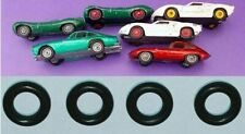 4 NEW REPLACEMENT TYRES to suit LESNEY MATCHBOX FORD GT # 41 C Tires