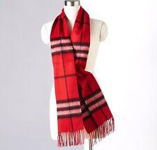 100% Merino Wool scarf women men winter warm Fashion Cream Beige check unisex