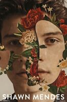 SHAWN MENDES - FLORAL COLLAGE POSTER - 22x34 - MUSIC 17452