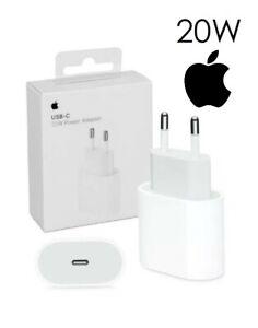 Adaptateur Secteur Chargeur Apple 20W PD iPhone 12 USB‑C USB-C Type C prise EUR