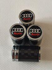 AUDI Carbon Fiber alloy Wheel Valve Dust caps All Models S LINE RS TT BOXED ITEM