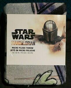 Star Wars The Mandalorian The Child Baby Yoda Throw Blanket 48x60 BRAND NEW