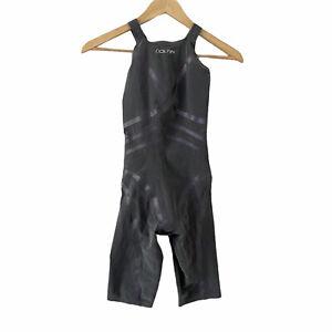 DolfinWomens Lightstrike Silver Flex Closed Back Tech Suit 26 Technical Swim