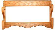 Oak 2 Gun Rack Rifle Shotgun Wall Display - Walnut Finish
