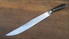 FINEST Vintage Hoffritz/Wusthof Chef's Yatagan Slciing Knife w/Horn - A+++ Cond.