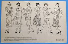 Vintage 1928 HOW TO DRAW THE FIGURE Walter Foster FLAPPER GIRLS Instruction Page
