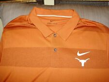 d2ddf886d Texas Longhorns Nike Dri Fit Burnt Orange Striped Polo Golf Shirt Men's 4xl