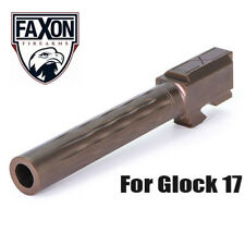 Faxon Flame Fluted Match Stainless Steel Barrel for Glock 17 G17 - Bronze PVD
