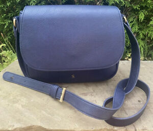 Joules Navy Blue Rabbit Emblem Adjustable Strap Messenger Cross Body Saddle Bag