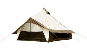 OGAWA Tent Groquette 12 T/C Monopole Type 5-6 Persons 2785 Brown Outdoor Japan