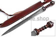 Damascus STEEL BLADE HANDMADE ROMAN GLADIUS SWORD, Rosewood & DamaSCUS Handle