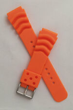 22 mm polyurethane PU rubber watch strap to fit Seiko/Citizen etc divers watches