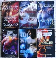 # 2 - 6 GENA SHOWALTER PARANORMAL ROMANCE BOOKS NO DOUBLES FREE SHIPPING
