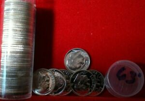 1963 Silver Proof Roosevelt Dime Roll 50 Coins In TUBE   10C