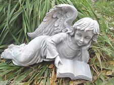 latex w plastic backup angel w book concrete plaster mold mould