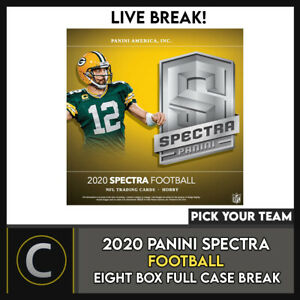 2020 PANINI SPECTRA FOOTBALL 8 BOX (FULL CASE) BREAK #F553 - PICK YOUR TEAM