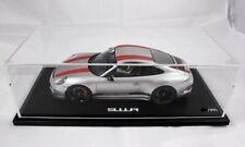 PORSCHE 911 R Silber Grau / Rote Streifen SPARK 1:18 WAX02100023