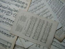 VINTAGE PAPER SHEET MUSIC 1.5KG 180 Decoupage Craft Art Scrap Booking Age Toned