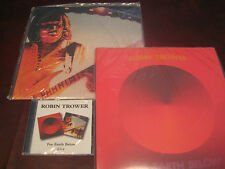 ROBIN TROWER 180 GRAM LIMITED LIVE & FOR EARTH BELOW + CD COMBINATION RARE SET