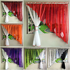 Amazing Voile Net Curtains with Leaves Ready Made Living or Dining Room New