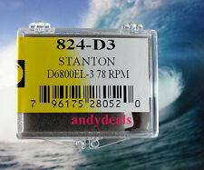 78 RPM TURNTABLE NEEDLE FOR Stanton 680EE 680E 680EEE D65 D6800SL D6800AL 824-D3