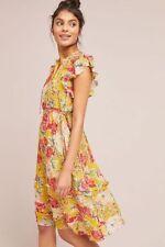 $298 Anthropologie Ellory silk Dress NWT new size XL yellow