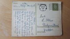 Deutsches Reich / Postkarte mit Schnapszahl-Datum: München Rollenstempel 3.3.33