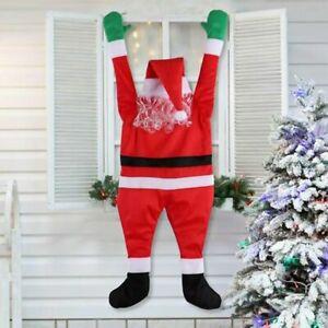 "42"" Climbing Hanging Santa Claus Christmas Outdoor Window Decoration Xmas Props"