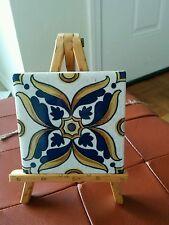 Vintage Aetco Faience Tile White/Blue