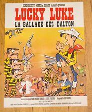 LA BALLADE DES DALTONS - LUCKY LUKE de GOSCINNY, MORRIS - AFFICHE 40X60 -