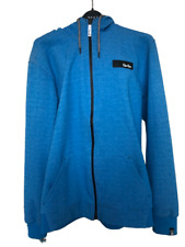 Gio Goi Class A Series Blue Hoodie Sweatshirt Jacket Full Zip Size Large