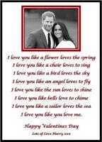 Personalised Boyfriend Girlfriend Valentines Day Birthday Photo Gift A4 Print