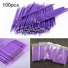 100 x Microbrush Reinigungsstäbchen 1.5mm Wimpernverlängerung Microblading Tatoo
