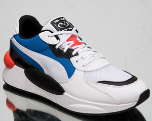 Puma RS 9.8 Fresh Men's White Palace Blue Low Casual Lifestyle Sneakers Shoes