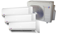 KK-Tec Trio Inverter System Klimaanlage Serie FAIRWIND R32 3,5+3,5+3,5